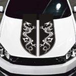 tribal dragon stripe car hood decal sticker