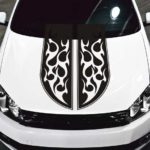 tribal flames stripe car hood decal sticker