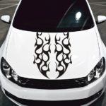 tribal flame car hood decal sticker