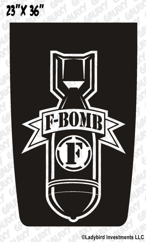 F Bomb Jeep Blackout Decal Sticker Jeepazoid