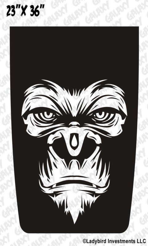 gorilla face jeep blackout decal sticker � jeepazoid