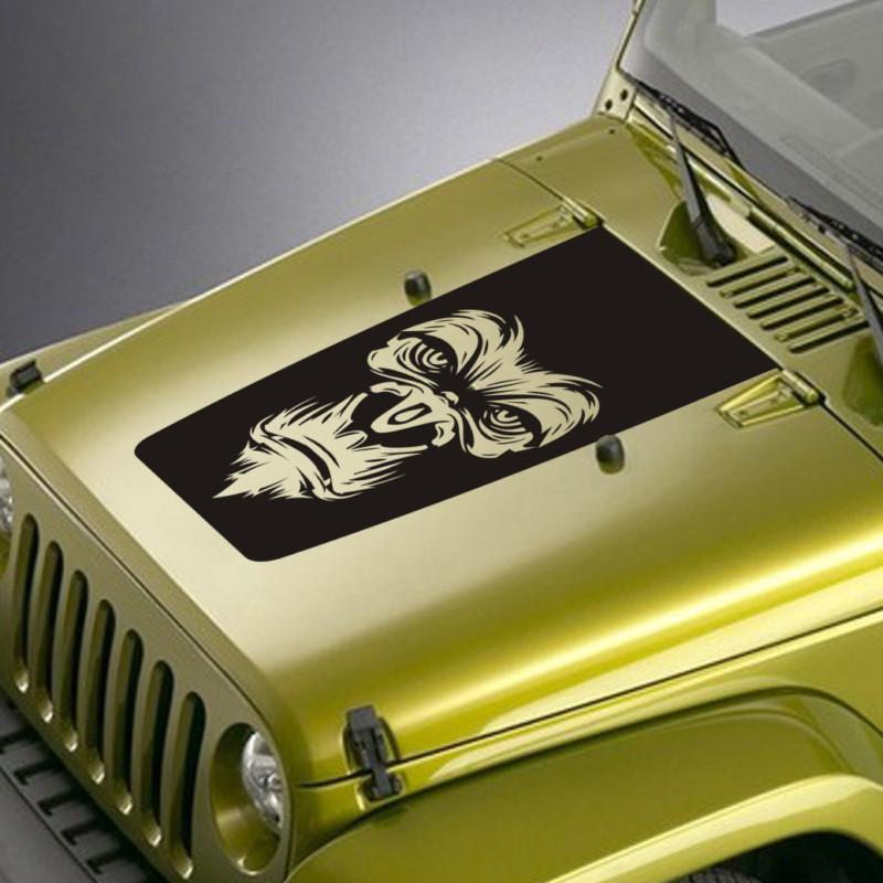 Gorilla Face Jeep Blackout Decal Sticker – Jeepazoid