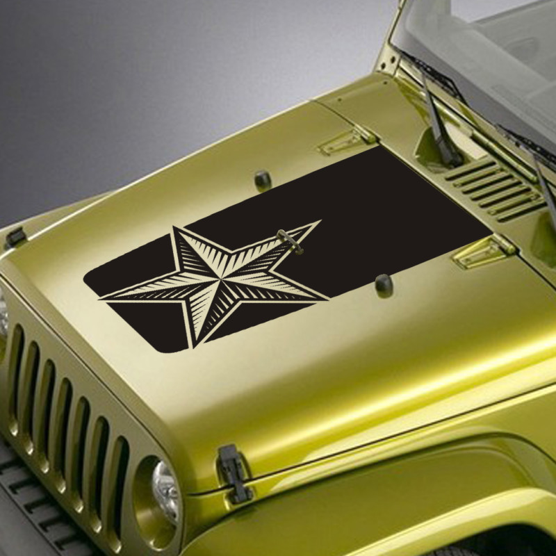 nautical star jeep hood blackout decal sticker