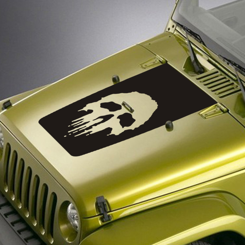 punisher skull jeep hood blackout decal sticker