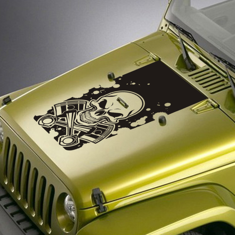 skull and pistons jeep blackout decal sticker