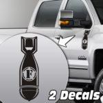 f-bomb truck door/fender decal sticker kit