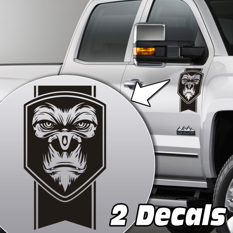 gorilla truck door/fender decal sticker kit
