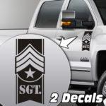 sergeant badge truck door/fender decal sticker kit
