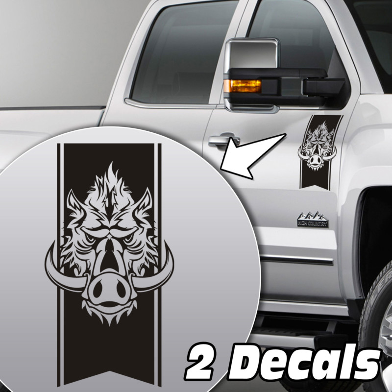 wild boar truck door/fender decal sticker kit