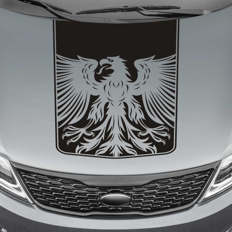tribal eagle blackout truck hood decal sticker