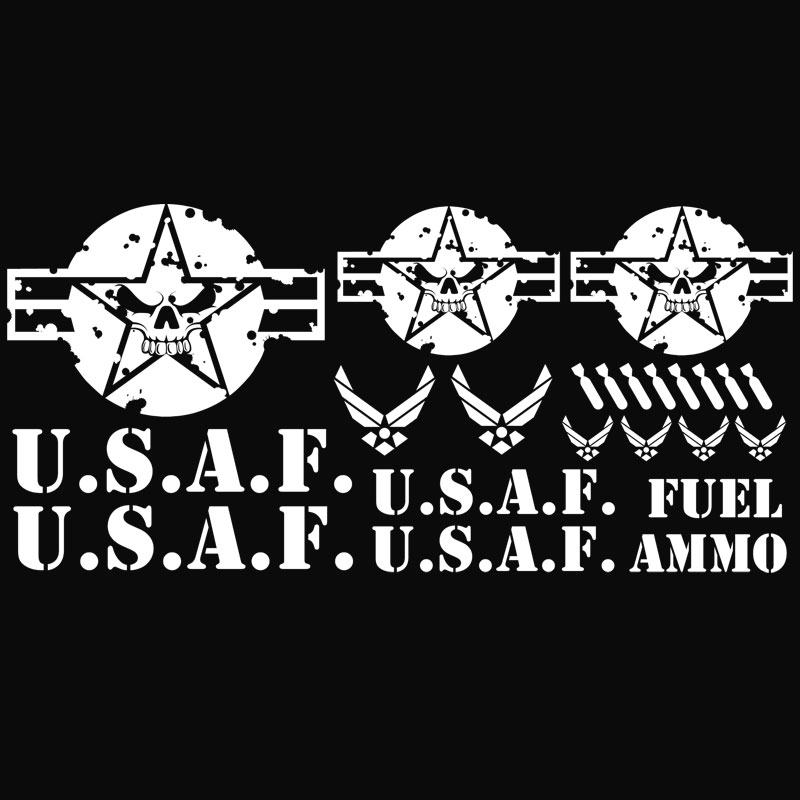Jeep Wrangler USAF Air Force Decal Kit