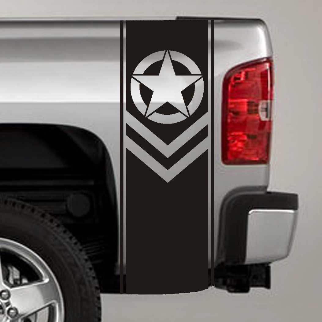 army star chevron military truck bed stripe decal sticker