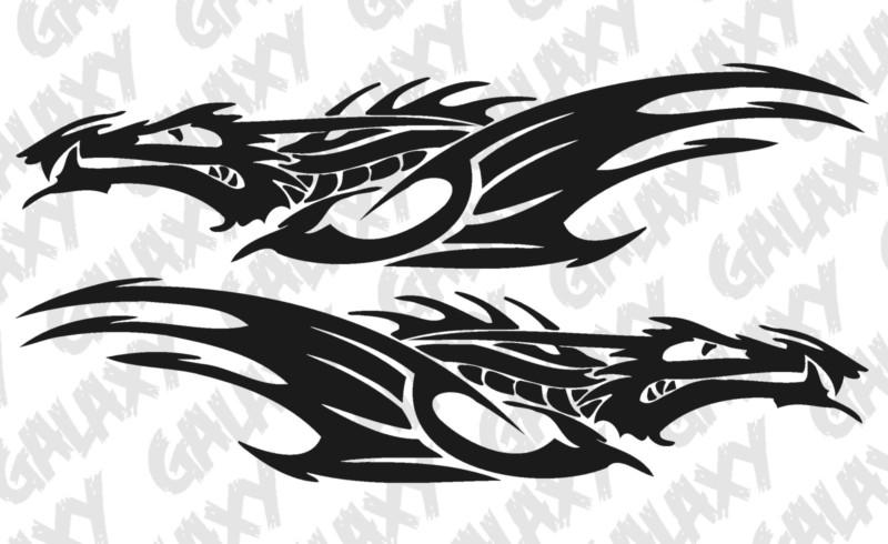 Tribal Dragon Car Door Decal Sticker Jeepazoid