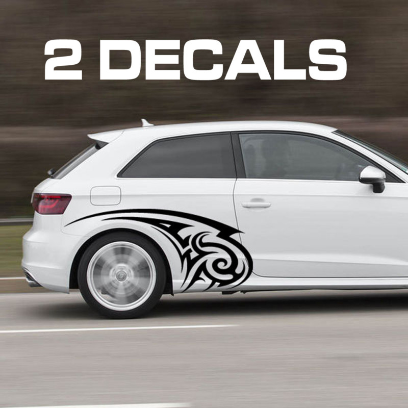 Tribal car door decal sticker kit
