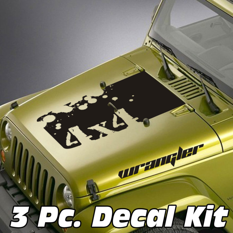 4x4 splatter jeep blackout decal sticker kit