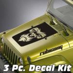 gorilla face jeep blackout decal sticker kit