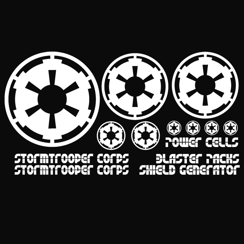 Jeep Wrangler Stormtrooper Corps Decal Kit