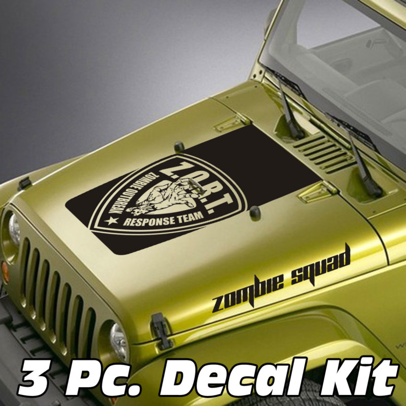 Jeep Wrangler 3 Pc. Zombie Outbreak Zombie Squad Blackout Kit