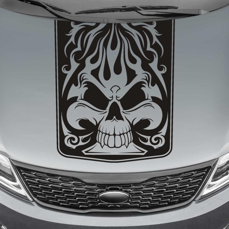 spade skull blackout truck hood decal sticker