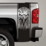 tribal eagle head truck bed stripe decal sticker