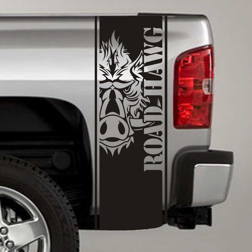 road hawg wild boar truck bed stripe decal sticker