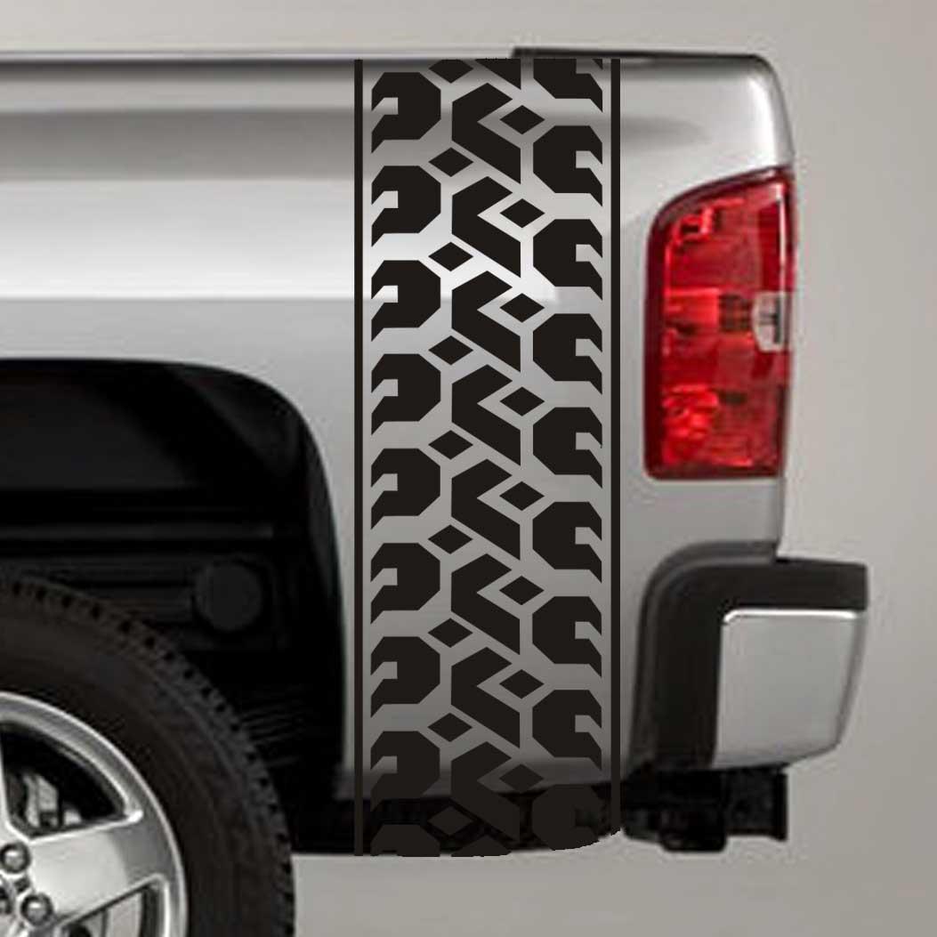 tire tread truck bed stripe decal sticker