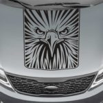 eagle face blackout truck hood decal sticker