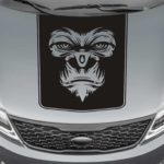 gorilla face blackout truck hood decal sticker
