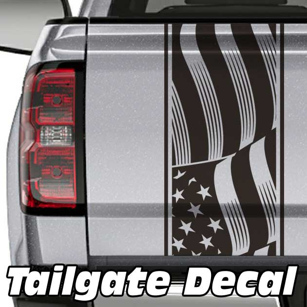 american flag truck tailgate decal sticker