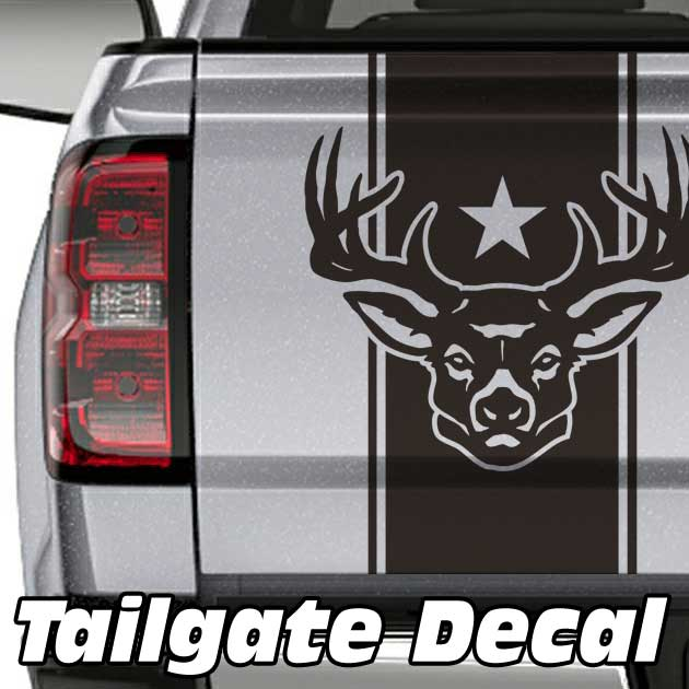deer star truck tailgate decal sticker
