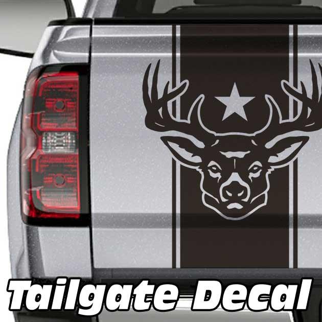 deer star truck tailgate decal sticker