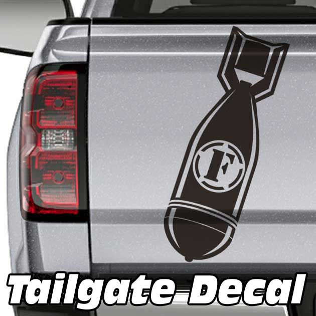 f-bomb truck tailgate decal sticker