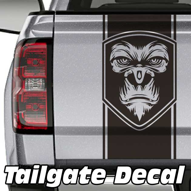 Gorilla Badge Truck Tailgate Decal Sticker