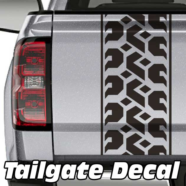 tire tread truck tailgate decal sticker