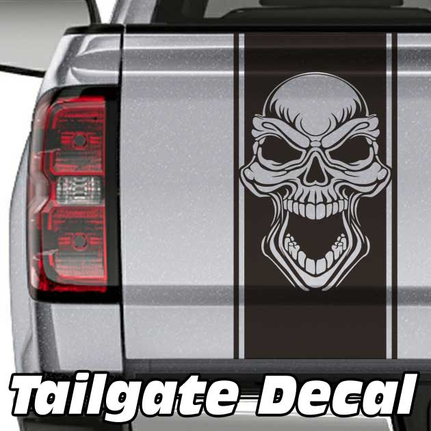 tribal skull truck tailgate decal sticker