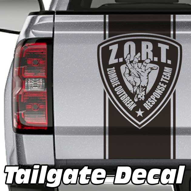 zombie outbreak truck tailgate decal sticker
