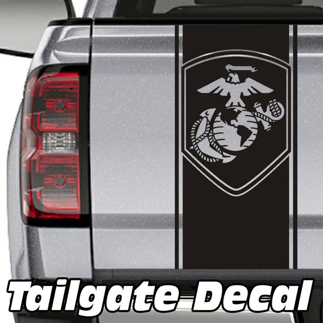USMC Marines Globe & Anchor Truck Tailgate Decal Sticker