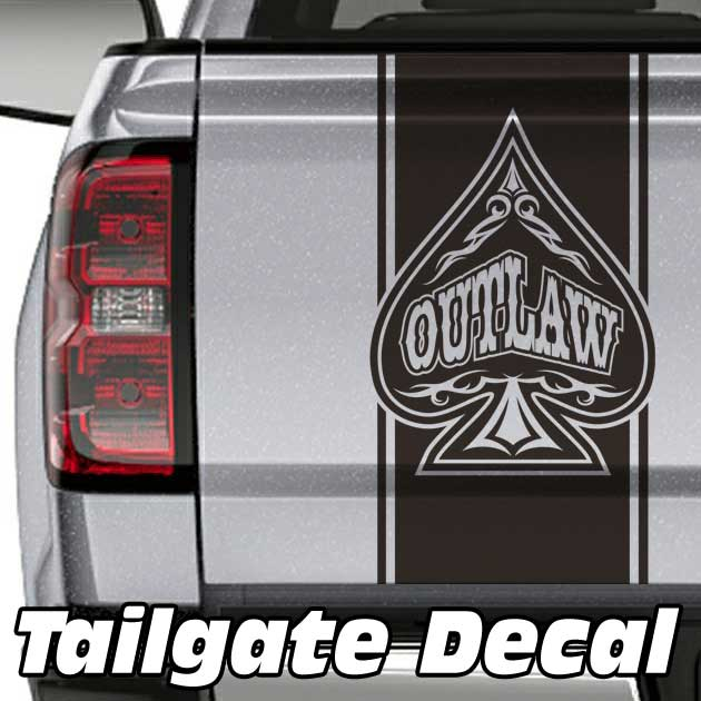 tribal spade truck tailgate decal sticker