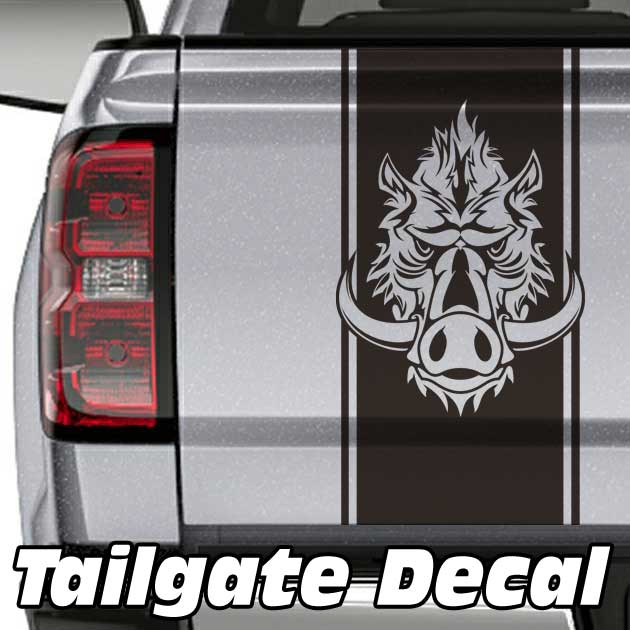 Wild Boar Truck Tailgate Decal Sticker