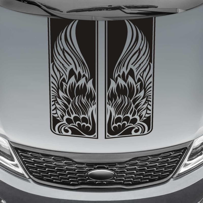 tribal wings truck hood blackout decal sticker