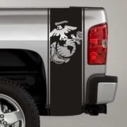 usmc globe and anchor truck bed decal sticker