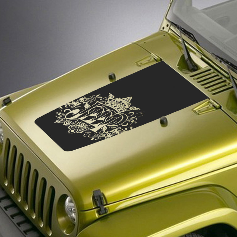 jeep wrangler hood crown filigree