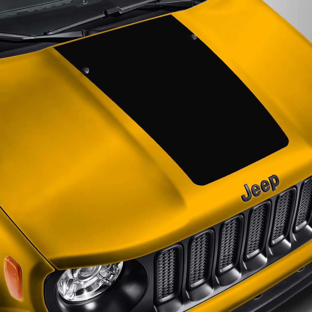Blackout Hood Decal – Fits Jeep Wrangler