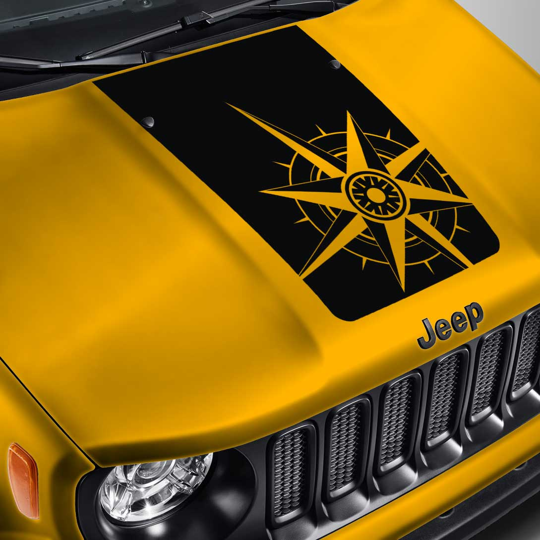 Jeep Renegade Blackout Compass Hood Decal