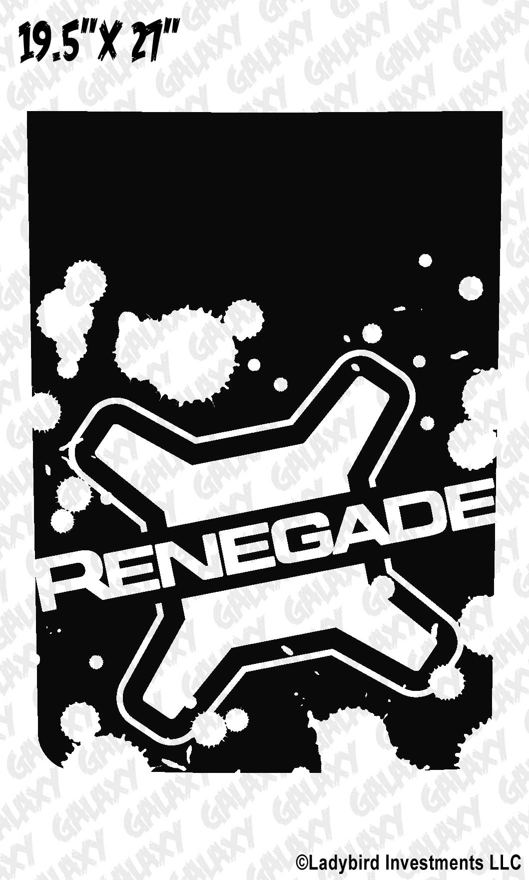 Jeep Renegade Lettered Logo Blackout Splatter Hood Decal