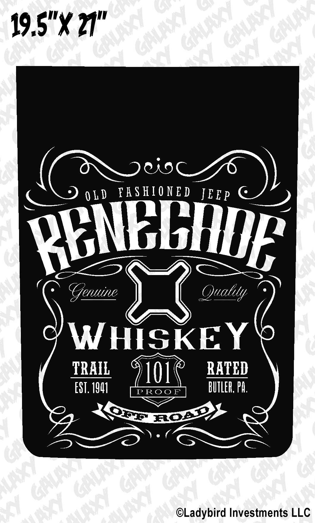 Jeep Renegade Blackout Whiskey Label 1 Hood Decal
