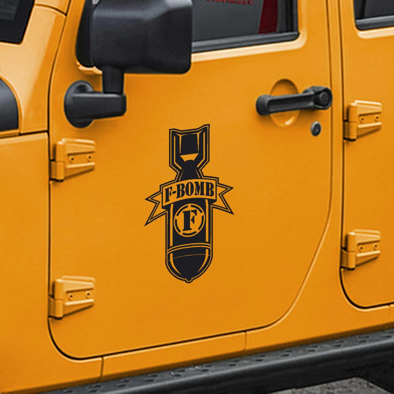 F-Bomb Door Decals – Fits Jeep Wrangler