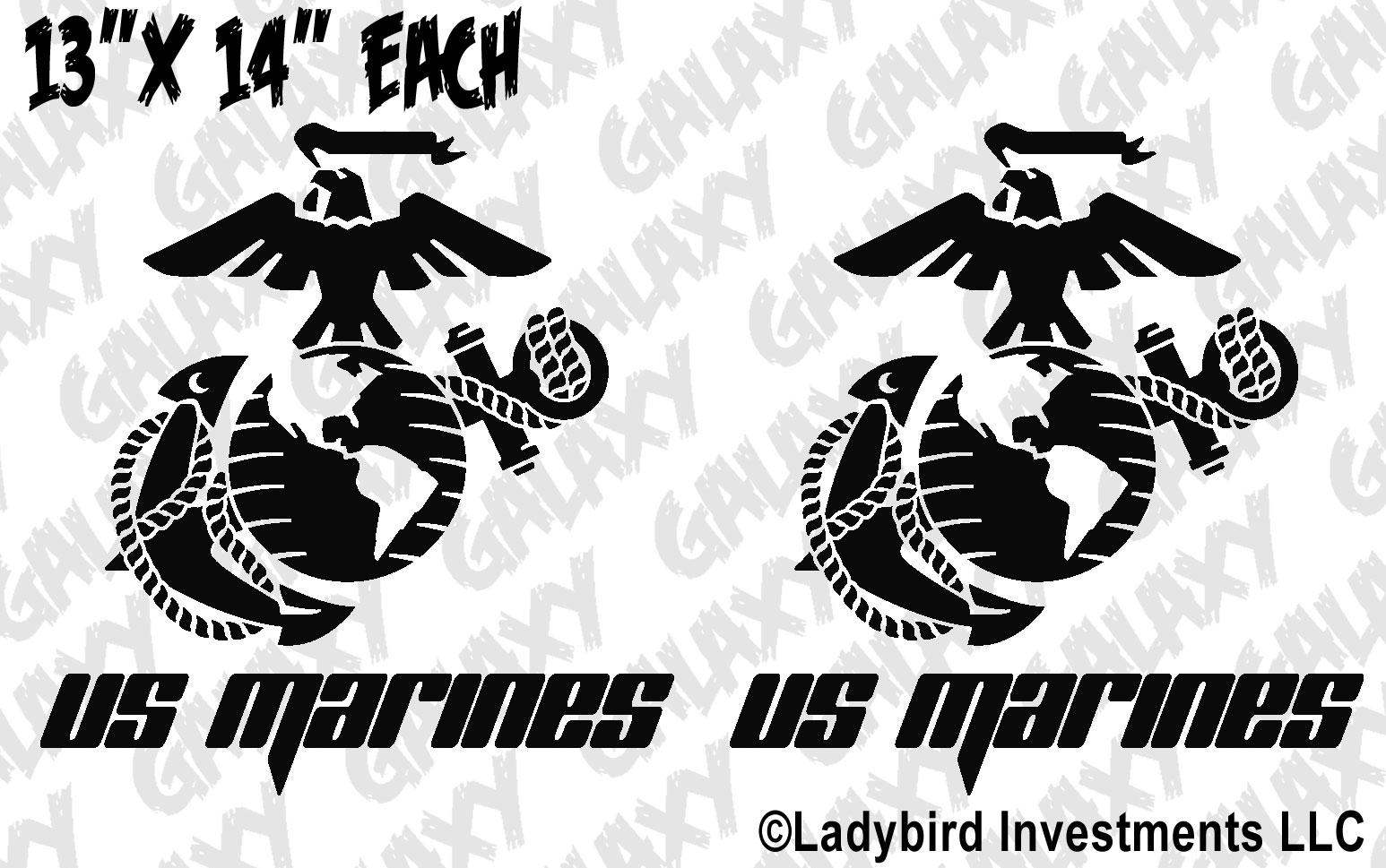 jeep wrangler usmc marine corps eagle globe  u0026 anchor door