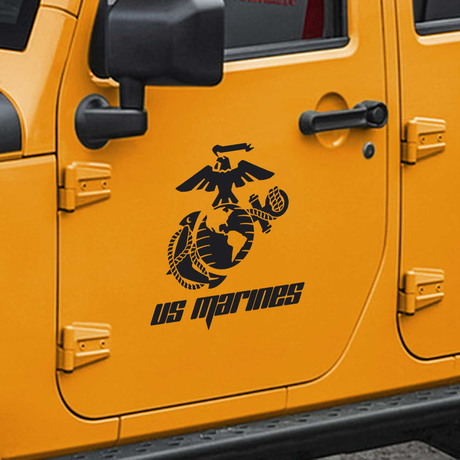 Jeep Wrangler USMC Marine Corps Eagle Globe & Anchor Door Decals