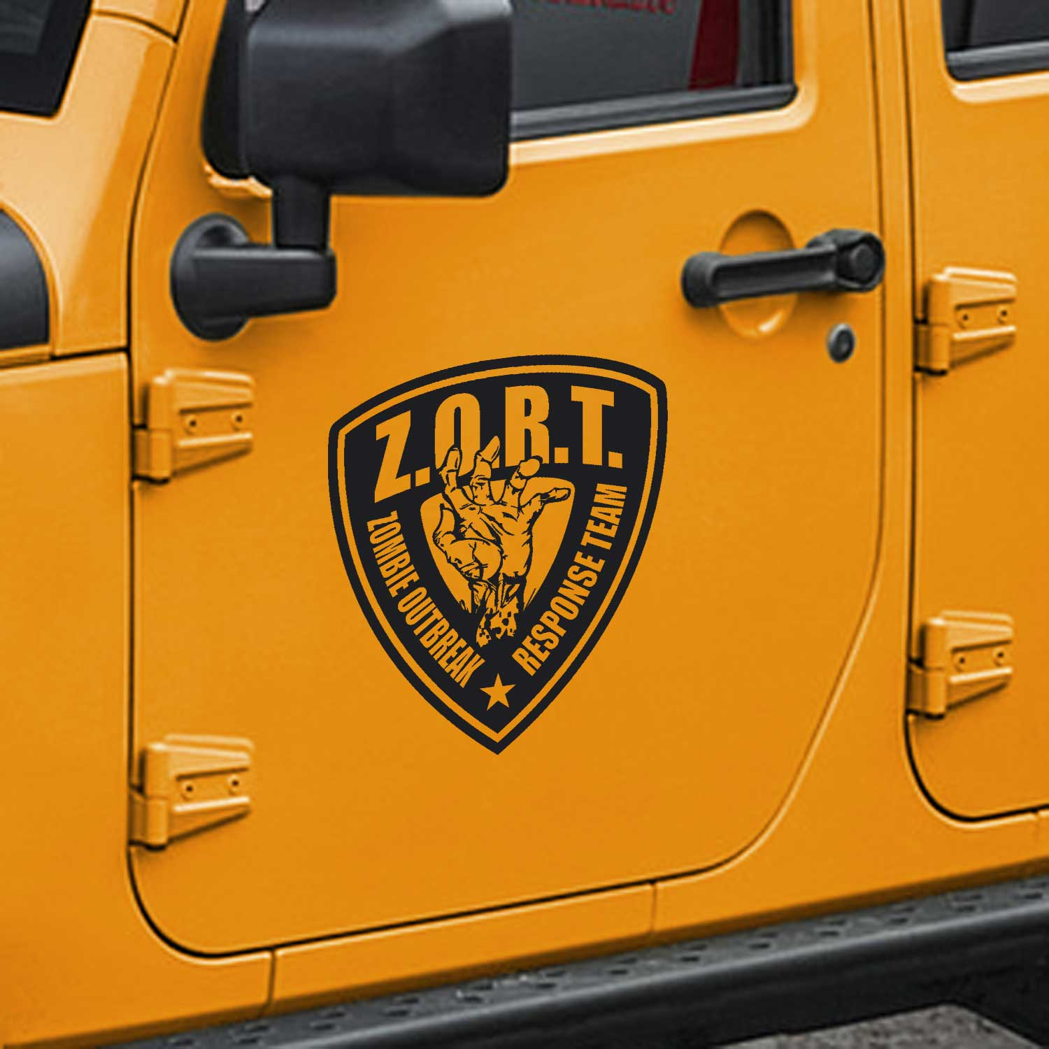 Zombie Outbreak Response Decals – Fits Jeep Wrangler